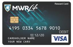 Carte VISA MWR Life