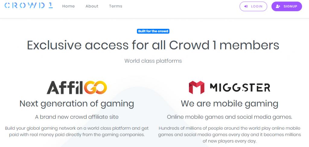 Partenariat de Crowd1 avec AffilGO et Miggster